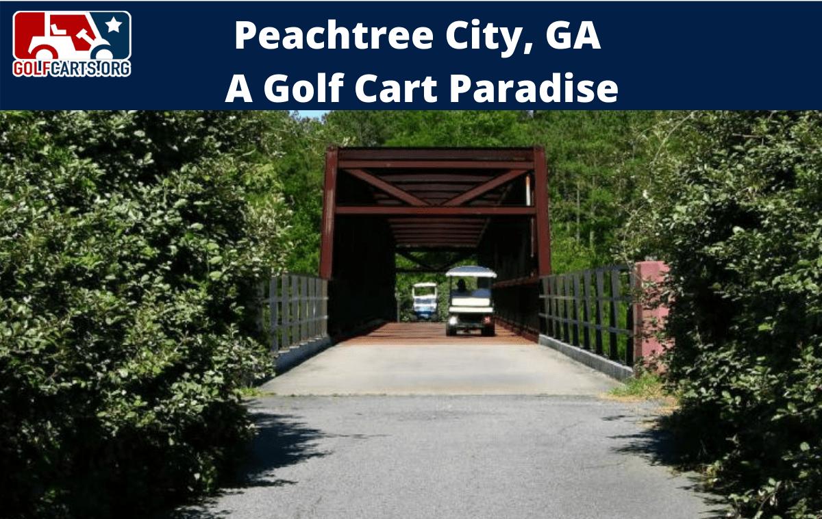 Peachtree City Georgia Golf Cart Community