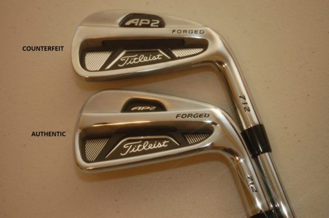 Counterfeit Titleist AP2 712 Irons