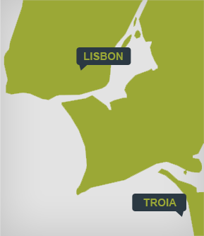 Free delivery from Lisbon to Troia. For rentals above 120€.