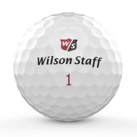 Wilson golfbolde med tryk i fuld størrelse 25 mm
