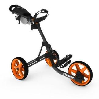 ClicGear Cart Golf Trolley 3.5+ Charcoal/Orange