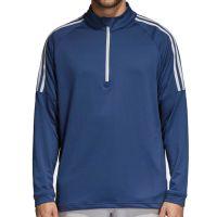 Adidas Three Stripe Quarter Zip Top - Colegiate Navy