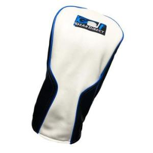 Golfgeardirect Leatherette Driver Headcover - White/Black/Blue