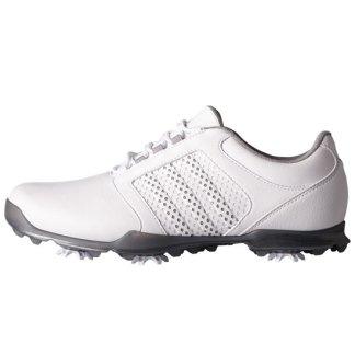 ADIDAS 2017 Womens Adipure Tour Golf Shoes - White/Light Onix/Iron Metallic
