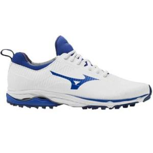 Mizuno Wave Cadence Spikeless Golf Shoes - White/Surf Blue
