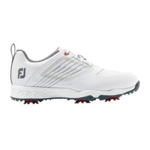 Junior Fury Golf Shoes - White/Silver