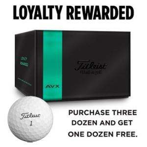 Titleist AVX 4 for 3 Golf Ball Offer