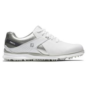 FootJoy Pro SL Ladies Golf Shoes - White/Silver/Grey