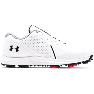 Under Armour Charged Draw RST Wide E Golf Shoes - White
