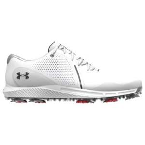 Under Armour Charged Draw RST Wide E Golf Shoes - White/Black