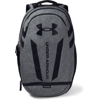 Under Armour Hustle 5.0 Backpack Black/GRPHMED HTHR - OSFA