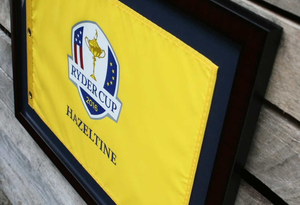 FREE SHIPPING TO LOWER 48 STATES 17×23 Flag Holding Frame-Mahogany Color Suggested flag size is approximately 14×20; Perfect for US Open, Ryder Cup and PGA Championship flag! Flag Not Included