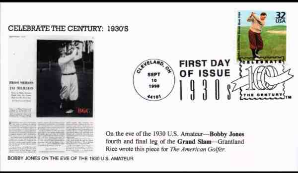 "Bobby Jones ""Turn of the Century"" Commemorative Stamp"