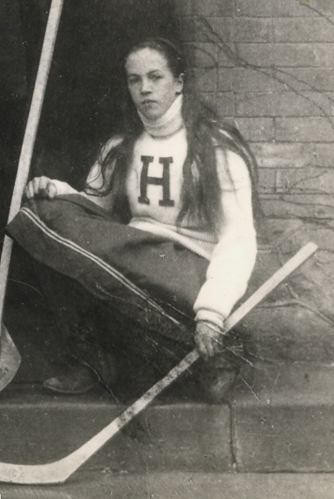 Dated 1907, a photograph of Ada Mackenzie representing Havergal College at Hockey, by kind permission of 'Dr. Catherine Steele 1928 Archives, Havergal College'