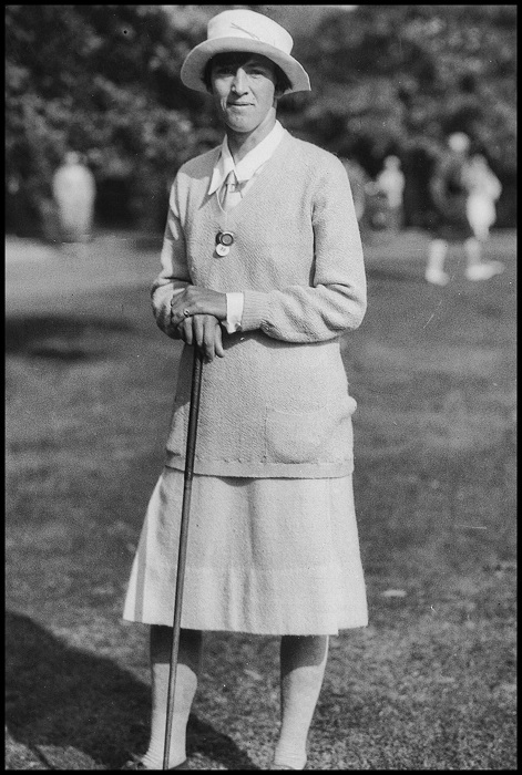 Ada Mackenzie pictured at the 1927 United States Women's Amateur Championship, by kind permission of the Ladies' Golf Club of Toronto