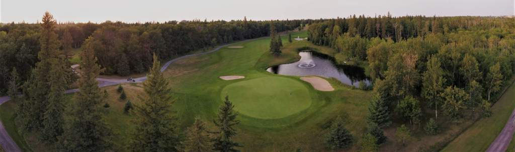 A view of the Par 5 8th Hole, by kind permission of Pine Ridge Golf Club