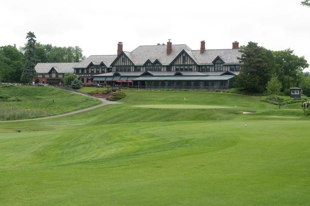 A photograph of the course and the clubhouse, by kind permission of The Royal Ottawa Golf Club