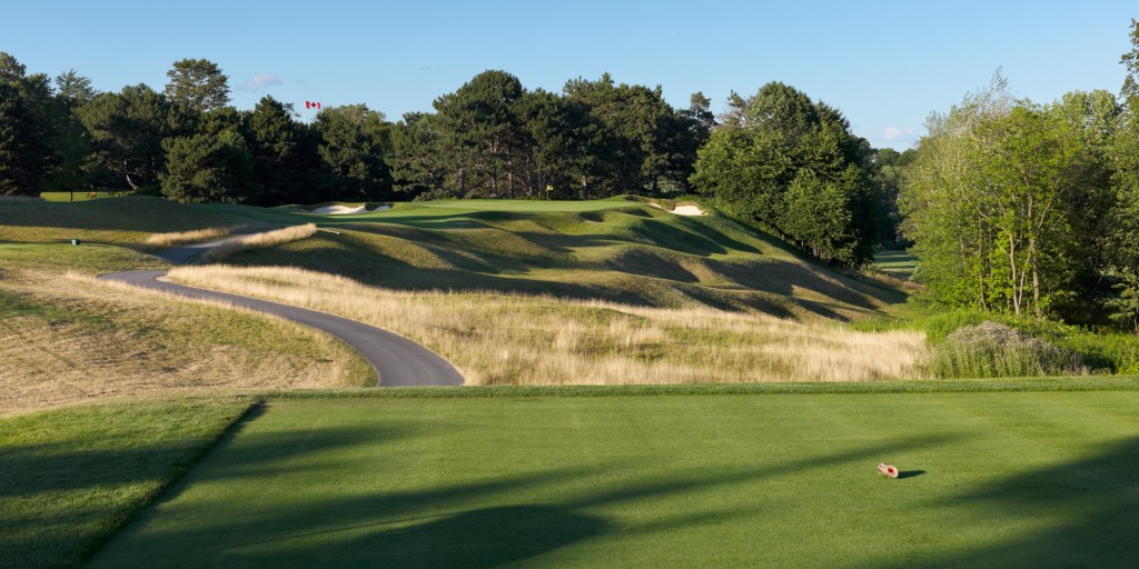 A view of the Par 3 7th Hole (Plateau), by kind permission of Toronto Golf Club