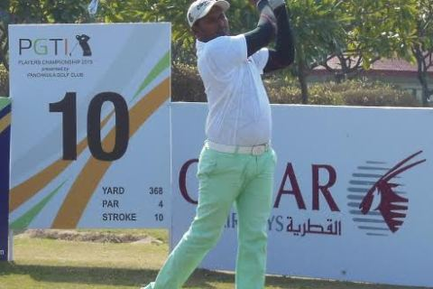 N Thangaraja stole the show in Panchkula with a fine 68 to take the 54 hole lead