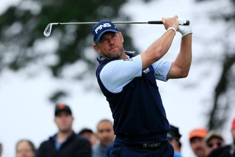 Lee Westwood produced some clutch golf to eliminate Jordan Spieth from the WGC Match Play