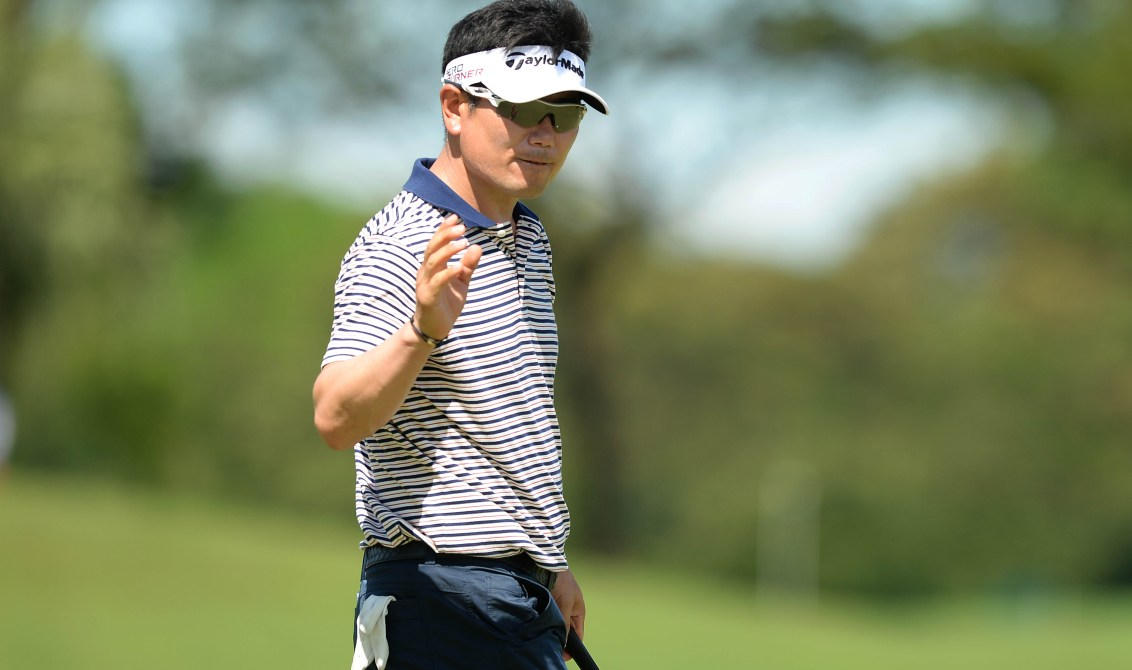 YE Yang is lying in second at the halfway stage of the European Masters