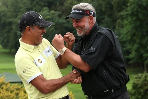 Jeev Milkha Singh spars with Darren Clarke as the two good friends lead their teams for the EurAsia Cup in January