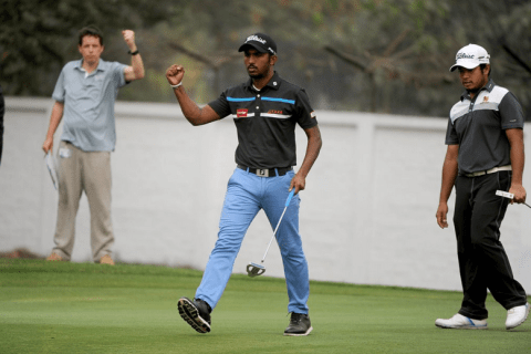 A brilliant 65 helped Chikkarangappa jump into tied second in the Bangladesh Open