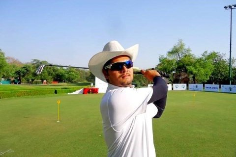 Aman Raj shot 67 in the third round at the Penang Golf Club