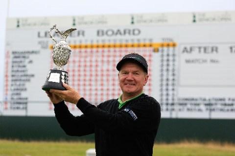 Paul Broadhurst wins Senior Open Championship 2016 in Carnoustie, United Kingdom.
