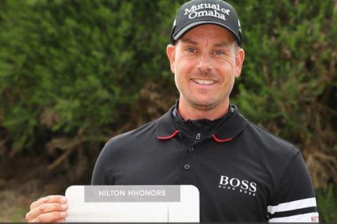 Henrik Stenson wins Hilton European Tour Golfer Award for the month of June