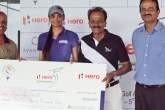 Sharmila Nicollet survived a bogey at the final hole before clinching victory in a tense playoff with Neha Tripathi