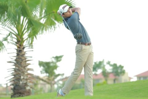 Ajeetesh Sandhu scored 68 in the third round of the PGTI Masters