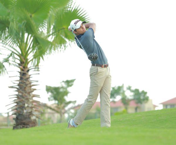Ajeetesh Sandhu scored 68 in the third round of the PGTI Masters