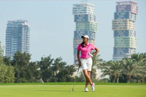 Aditi Ashok Leading Rd 1 at Qatar