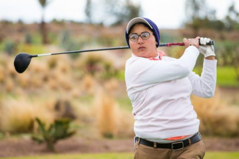 Amandeep Drall shot scores of 66 and 68 to jump into a tie for the lead in the Lalla Aicha Tour School event at Marrakech, Morocco