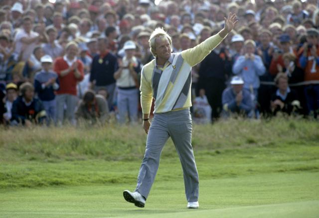 1986 BRITISH OPEN TURNBERRY, SCO GREG NORMAN-AUS WINS FINAL ROUND photo: Simon Bruty