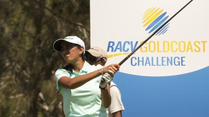 Aditi Ashok in the Gold Coast Challenge in Australia