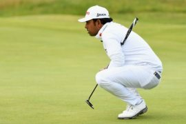 Anirban Lahiri hunting for the right line to the pin