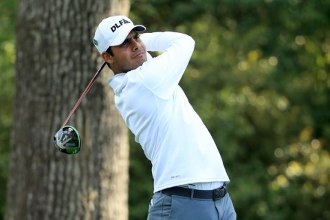 Shubhankar Sharma in the second round of The Masters