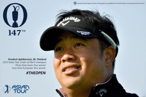 Kiradech Aphibarnrat will be heading to The 147th Open