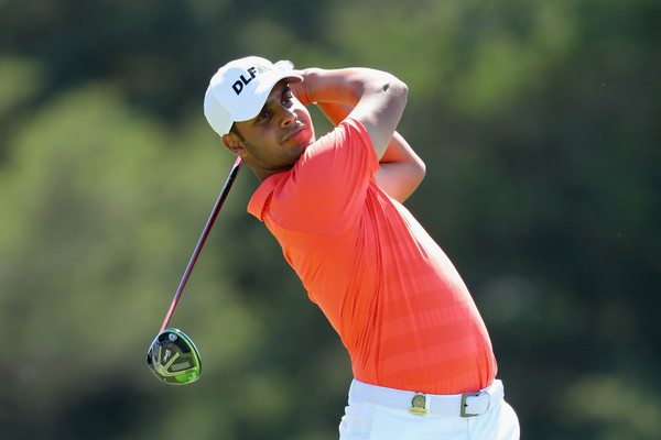 Shubhankar Sharma during round one of the US Open