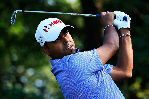 Anirban Lahiri during the second round of The Northern Trust