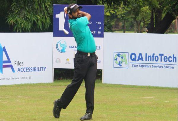 Chiragh Kumar joins the five-way lead at rd 1 of QA Infotech Open