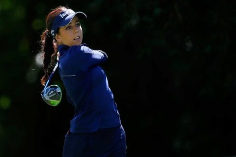 Georgia Hall during the second round of the Portland Classic - Pic: LPGA
