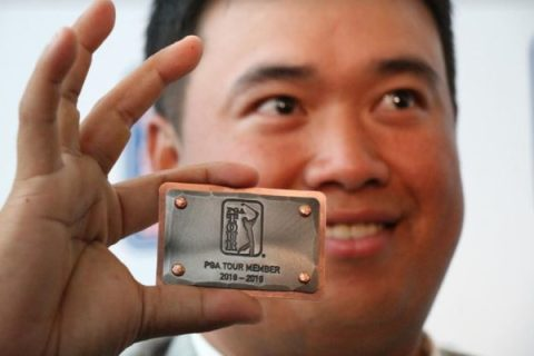 Kiradech Aphibarnrat with his PGA TOUR card