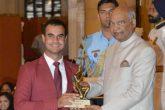 Shubhankar Sharma received prestigious Arjuna Award from President of India