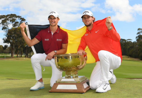 Thomas Pieters and Thomas Detry helped Belgium to a first ever victory in the World Cup of Golf