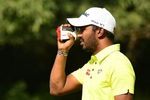 Chikkarangappa S of India shared round 2 lead at Jeev Milkha SIngh Invitational