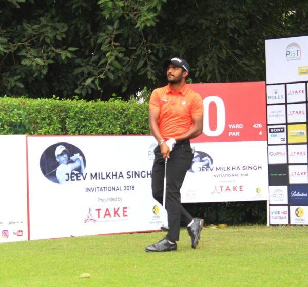 Chikkarangappa during the third round of Jeev Milkha Singh Invitational