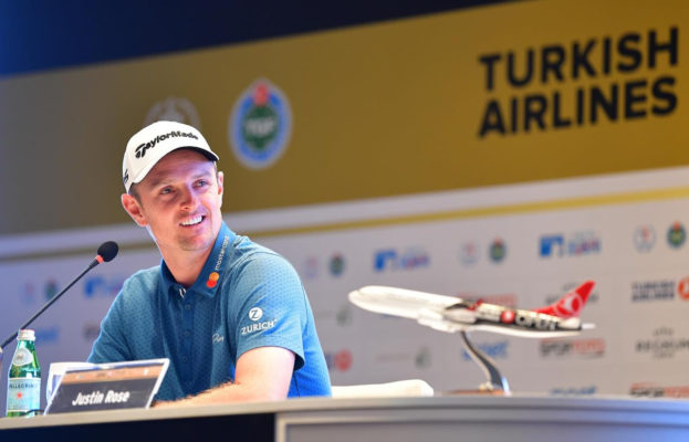 Justine Rose at the Turkish Airlines Open press meet
